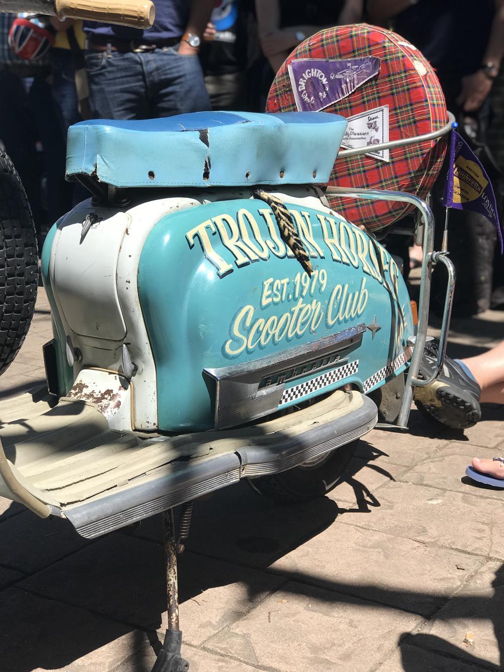 Trojan Horses Scooter Club rusty Lambretta