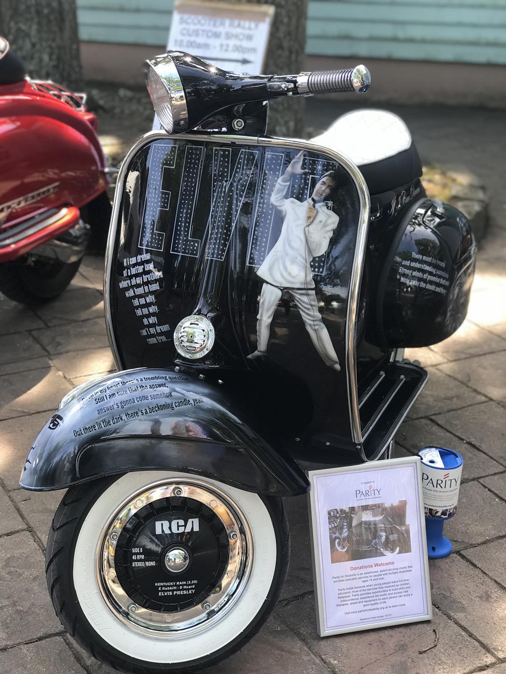 Elvis Presley custom Vespa scooter