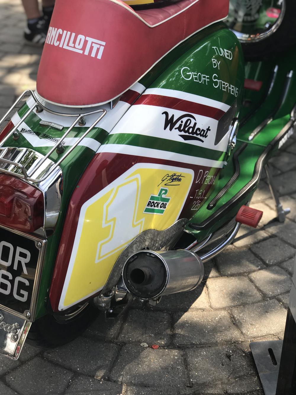 Lambretta Wildcat street racer scooter exhaust
