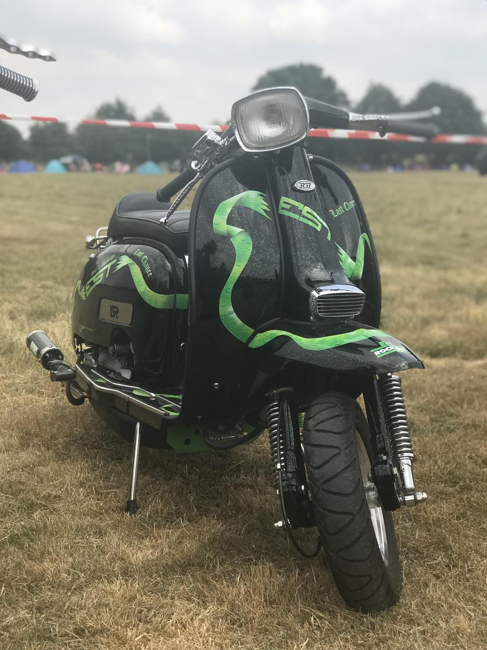 Street style Lambretta at the Solent Cougars scooter rally 2018