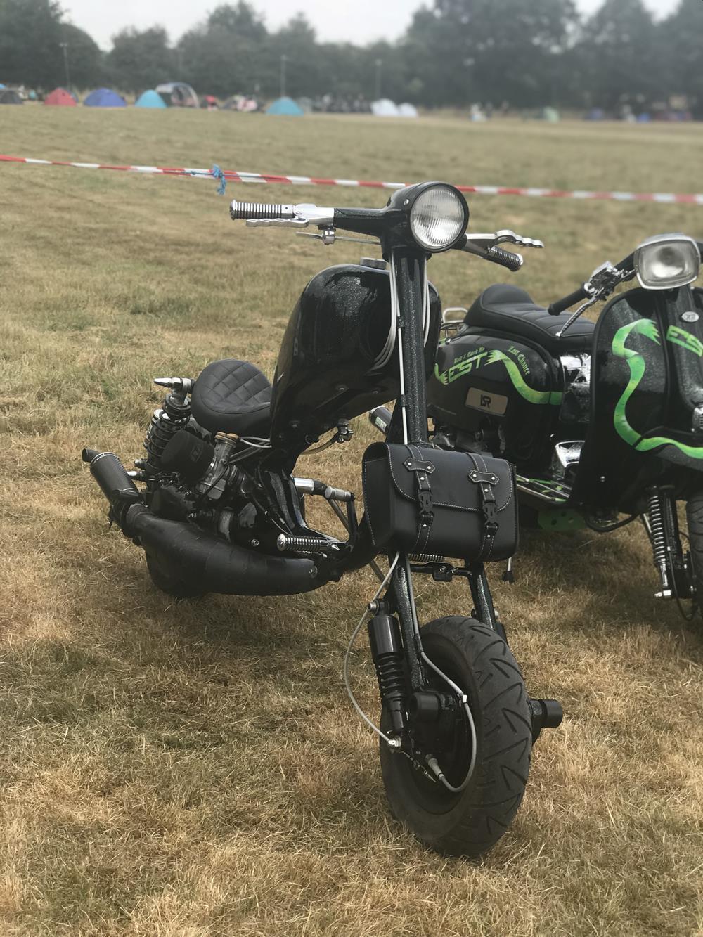 Bllack Lambretta chopper