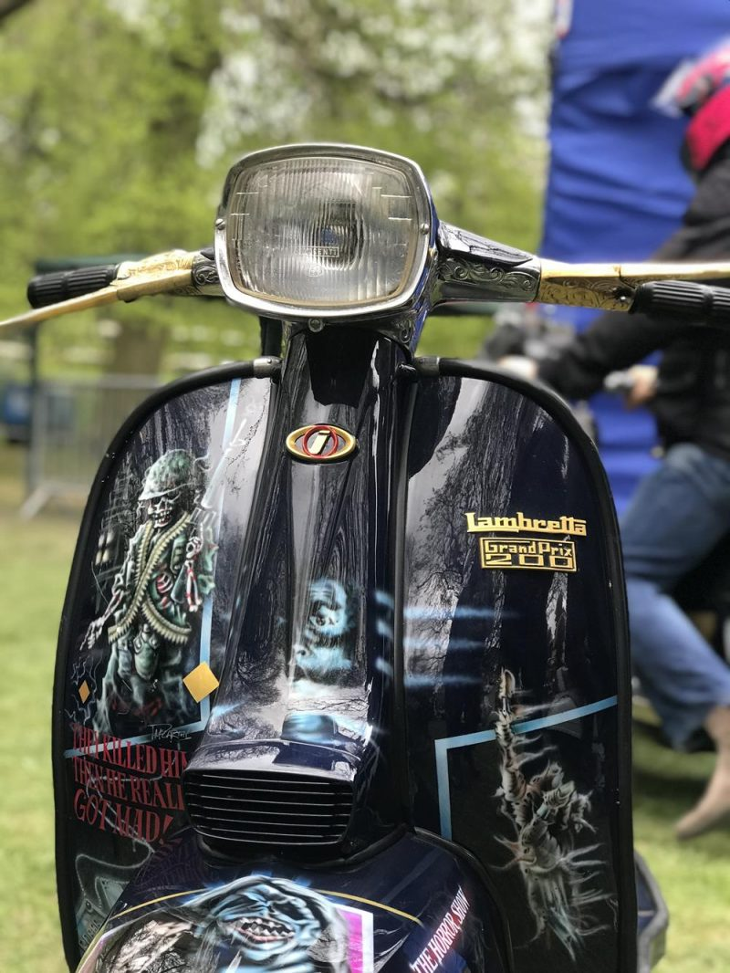 House custom Lambretta with zombie murals