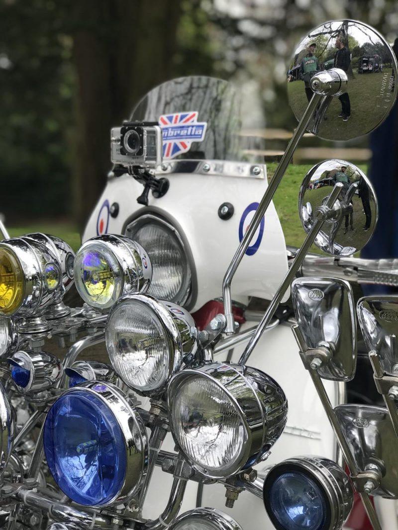 Closeup of mod style Lambretta