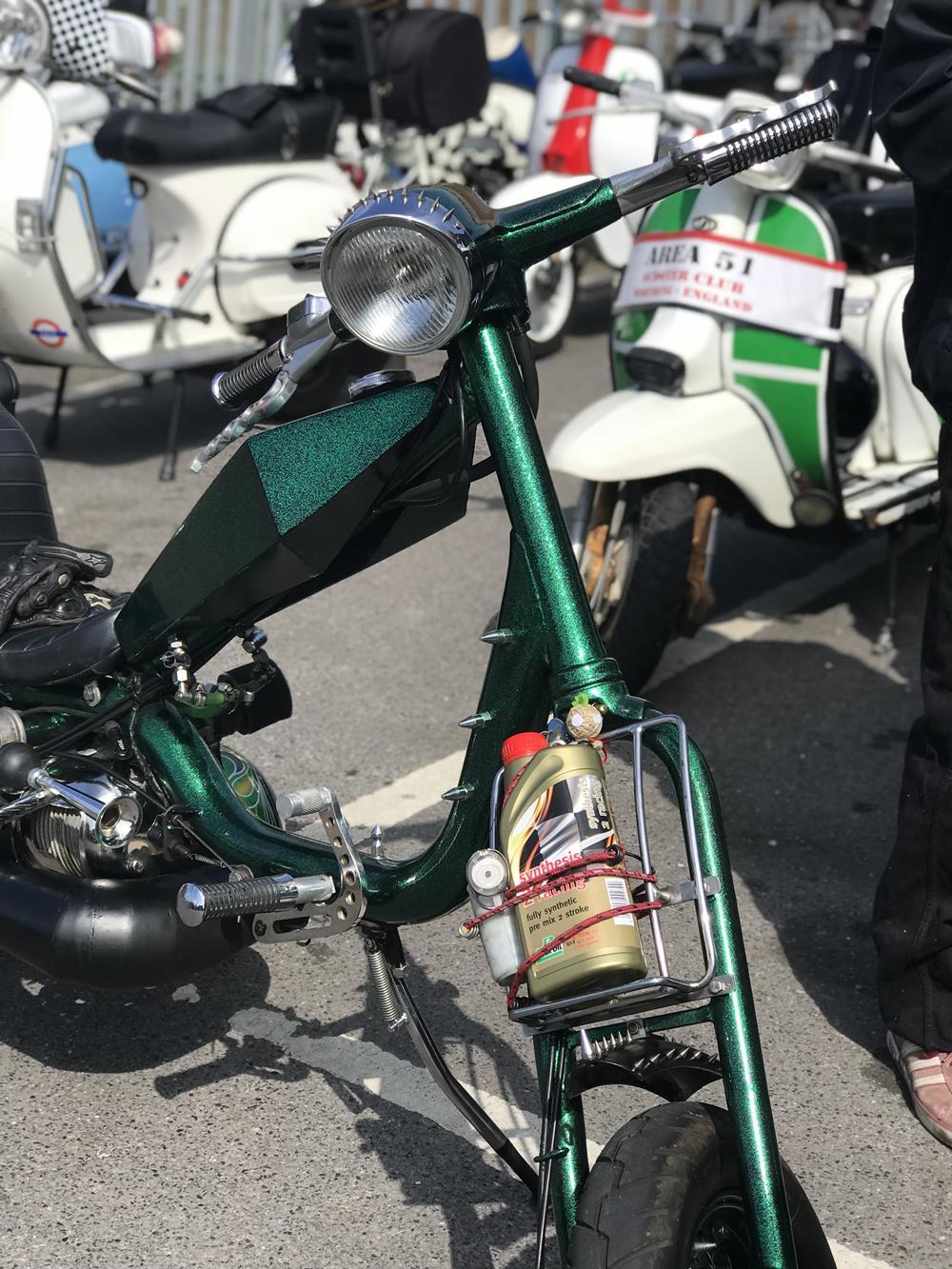 Green Lambretta chopper
