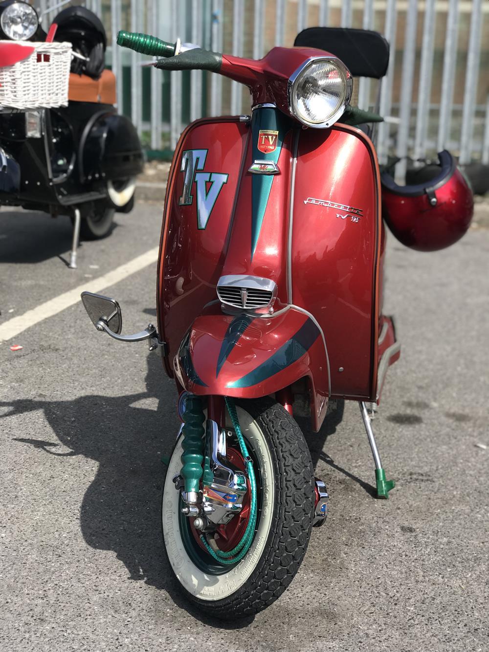 Red Lambretta TV scooter