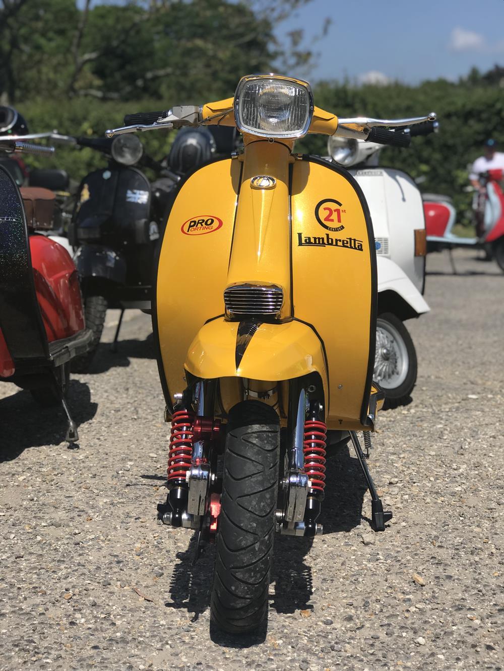 Yellow Lambretta GP