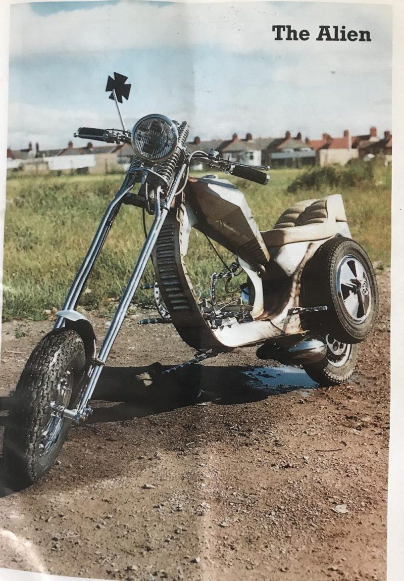 The Alien scooter chopper