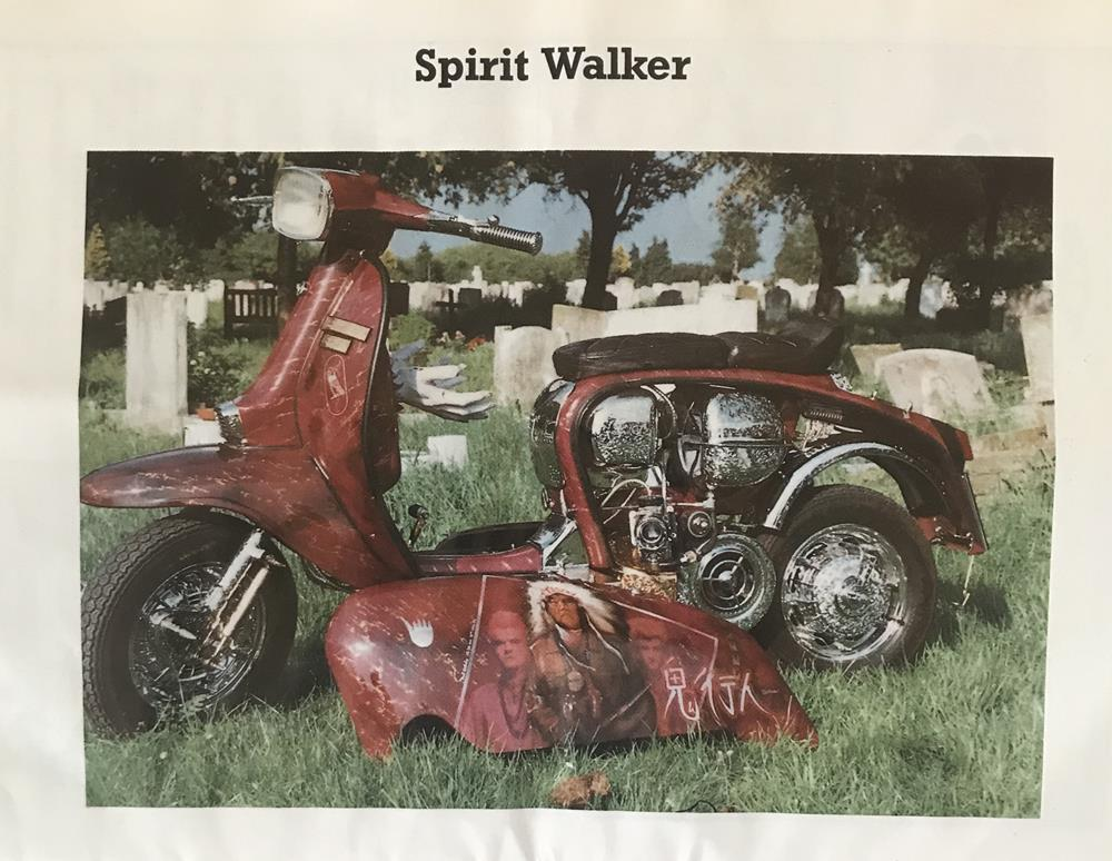 Spirit Walker custom scooter from the DISC 86 scooter rally brochure