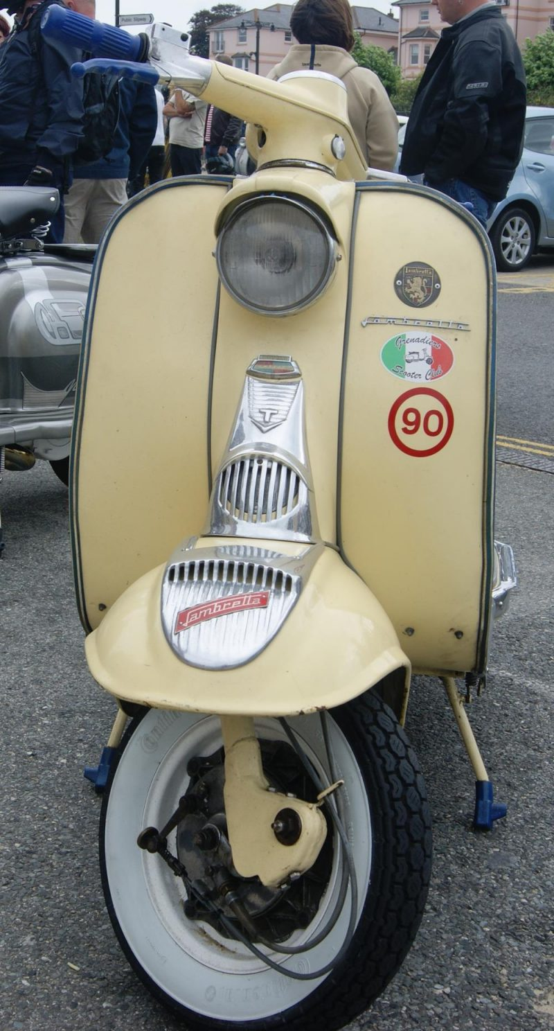 Cream series 1 Lambretta with stickers